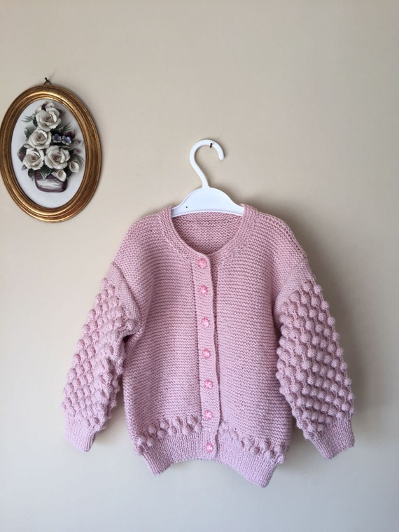 70a0654f992f Baby Sweater Hand knitted baby cardigan jacket for girl