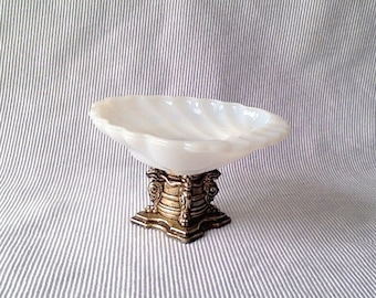 Milk Glass Soap Dish