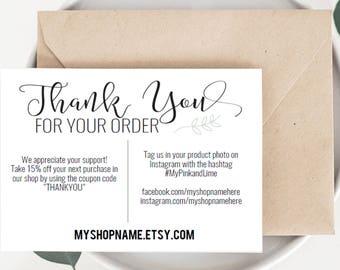 Online Shop Cards Etsy