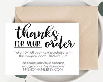 business thank you card instant download etsy seller thank etsy