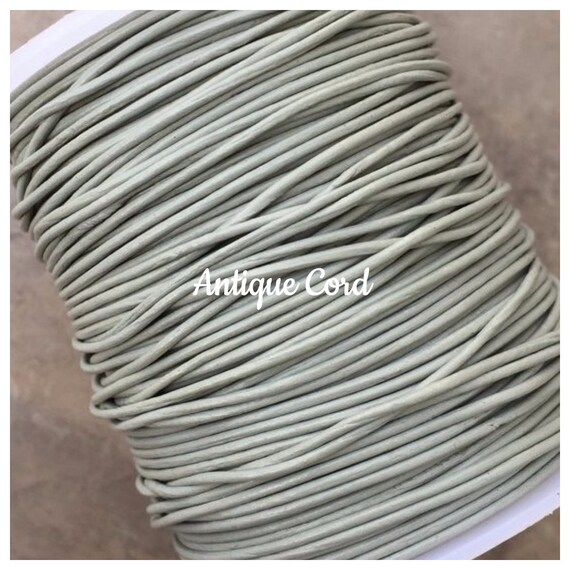 1 YARD Order Lead Safe and Soft 0.5mm Diameter Round Genuine Leather Cord in Metallic Brown