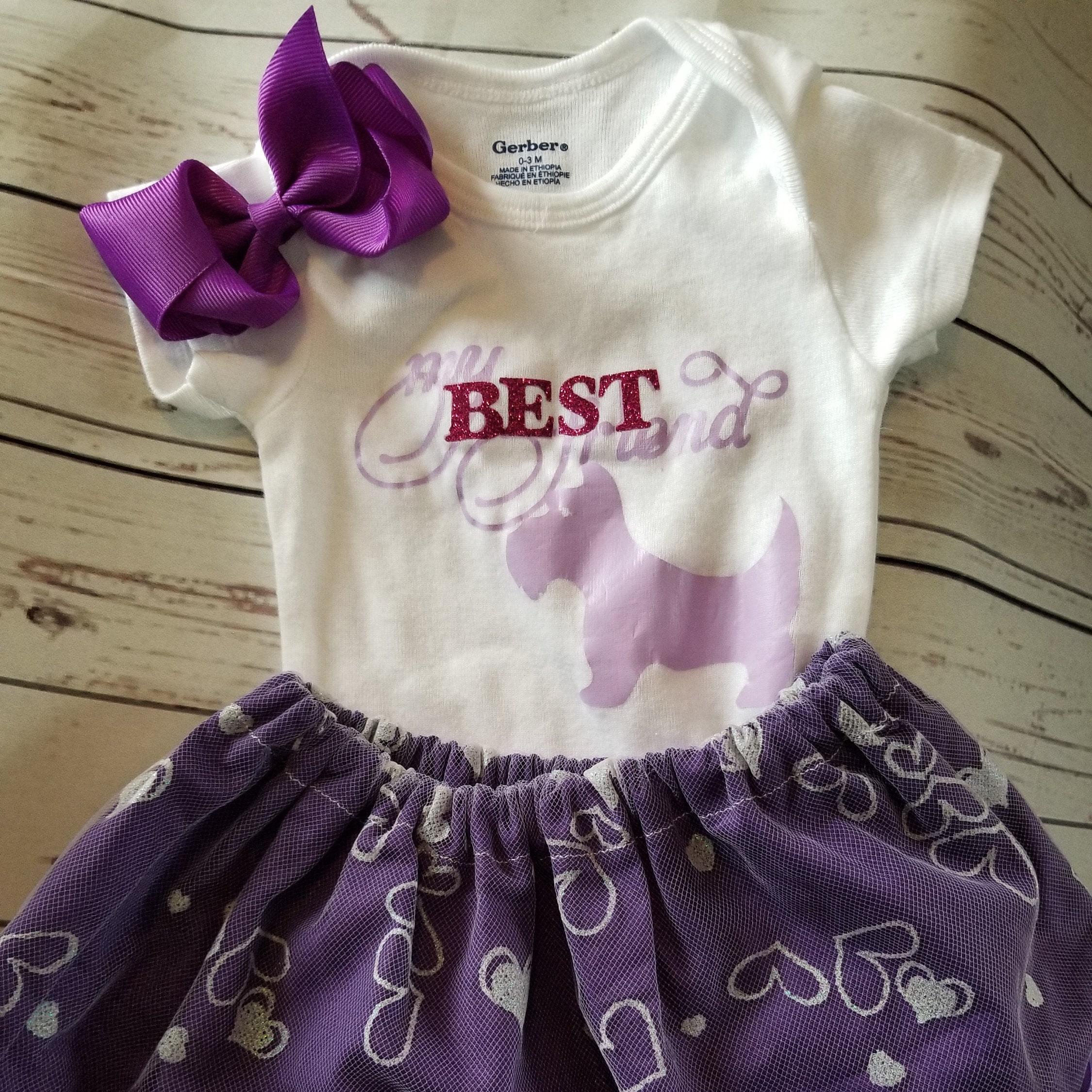 a39318e14 Baby girl best friends outfit girls purple skirt purple   Etsy