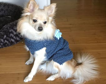 Flower dog sweater