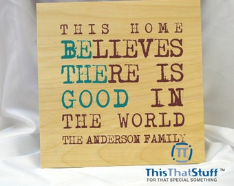 Custom Wood Family or Friend quality Frames - Signs - Prints directly on the wood - Comes in many sizes