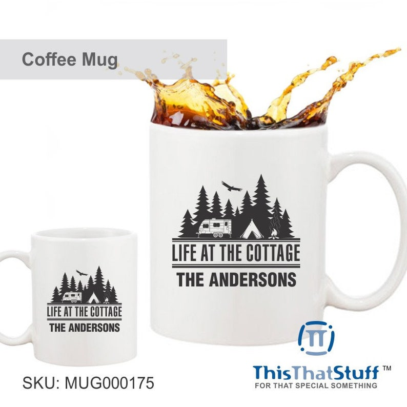 Custom Printed Coffee Mug  Life At The Cottage  Forest image 0