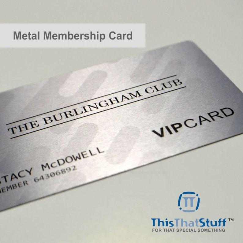 Custom Printed  Metal Cards  Credit Card Sized  Aluminium image 0