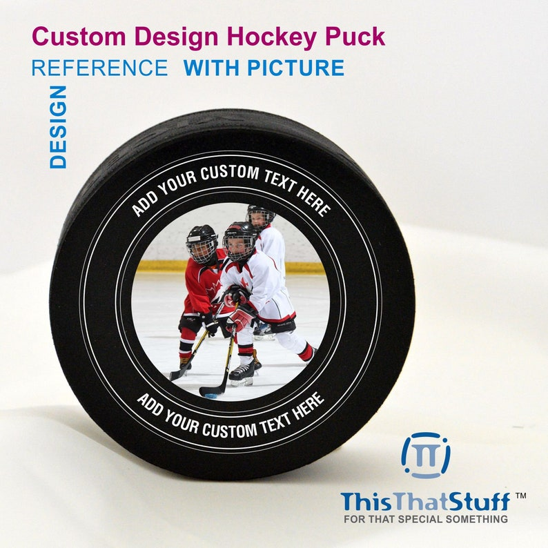 Custom Designed and Printed Official Hockey Puck for Any Event image 0