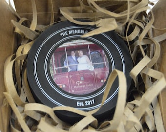 Custom Designed and Printed Official Hockey Puck for Any Event