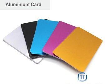 Lot of 32 Blank Aluminum Cards, Laser engravable metal, CNC machine, Aluminum sheet thin metal, Blank Anodized Aluminum Cards