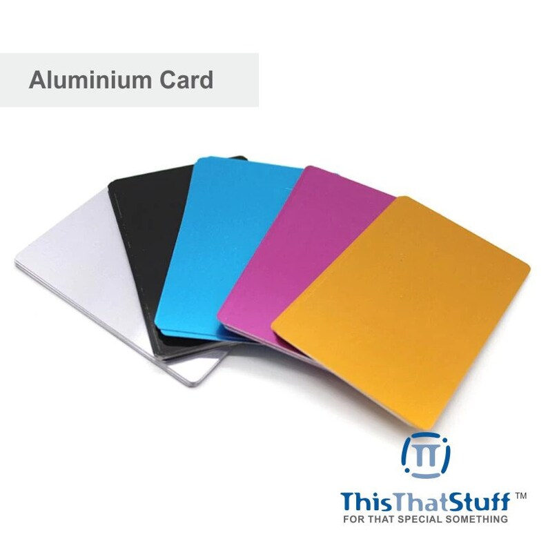 Lot of 32 Blank Aluminum Cards Laser engravable metal CNC image 0