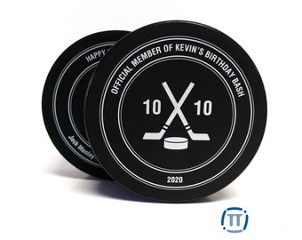 Custom Printed Official Hockey Puck for Any Event