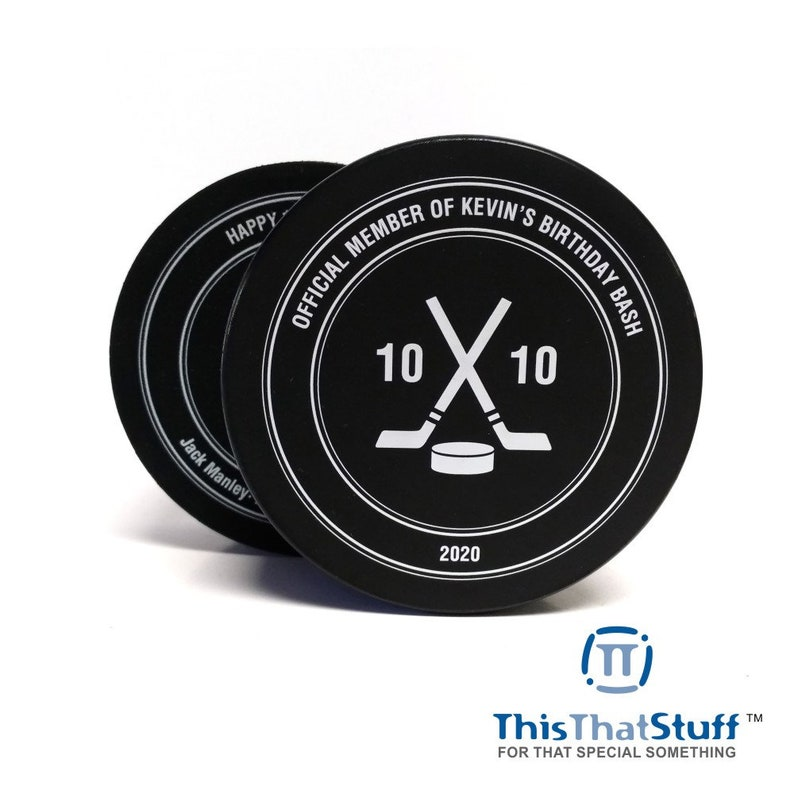 Custom Printed Official Hockey Puck for Any Event image 0