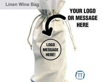Custom Printed Linen Wine Bag | For Celebrations, Corporate Events and Any Other Special Occasion