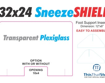 Sneeze Guard - Sneeze Shield - Protective Counter Plexiglass -  READY TO SHIP !!!