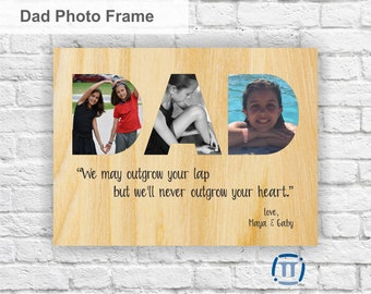 Custom Printed Photo Frame | Father's Day | Quality One of a Kind Gift - Your photos printed directly on WOOD