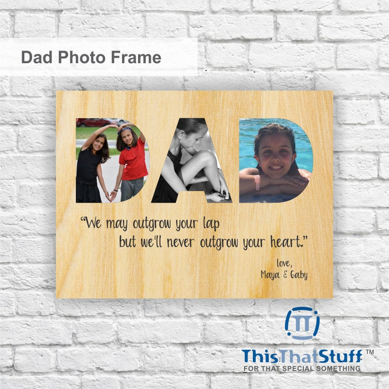 Custom Printed Photo Frame  Father's Day  Quality One of image 0