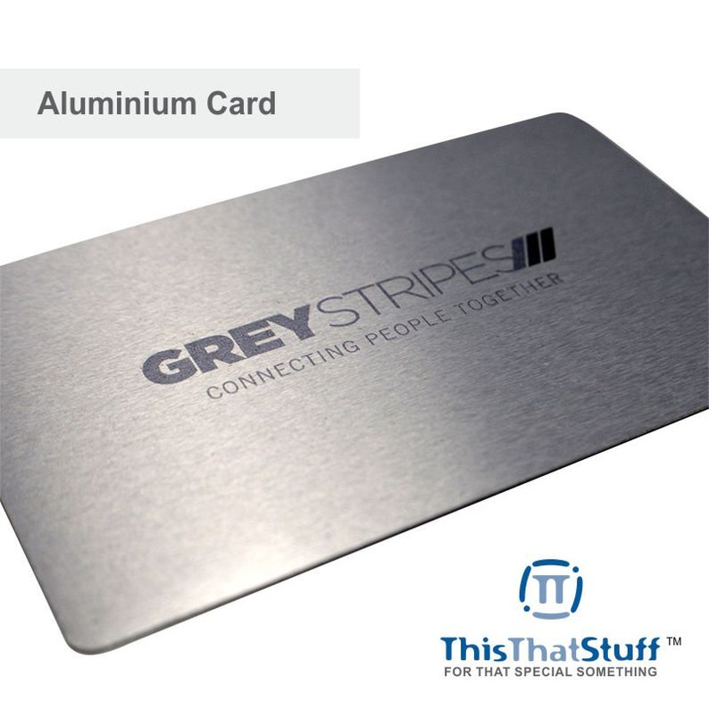 Custom Printed Metal Cards  Credit Card Sized  Aluminium for image 0