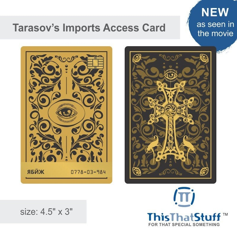 Custom Printed Tarasov's Imports Access Card  New Design image 1