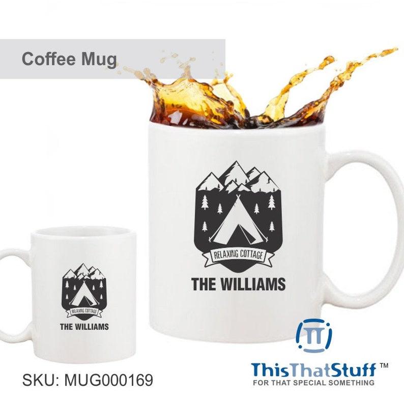 Custom Printed Coffee Mug  Relaxing Cottage image 0