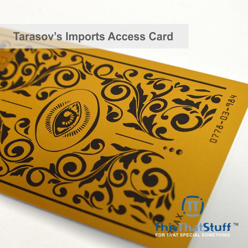 Custom Printed Tarasov's Imports Access Card  Credit Card image 0