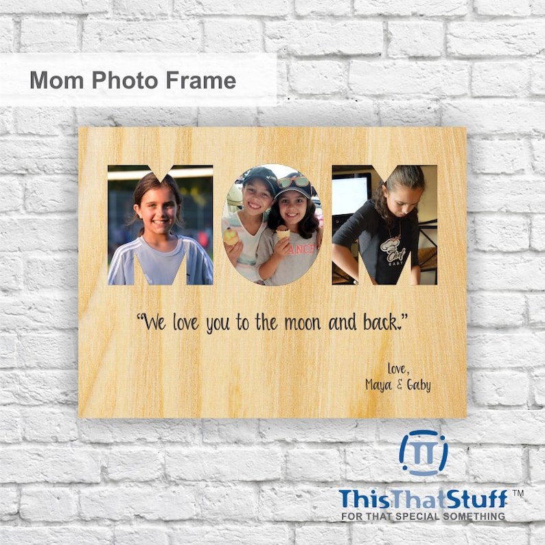 Custom Printed Photo Frame  Mother's Day  Quality One of image 0