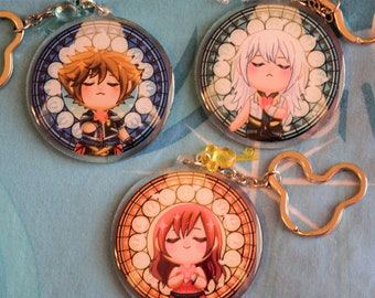 Kingdom Hearts Stained Glass Charms