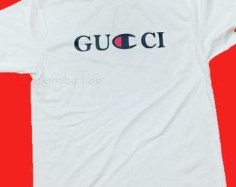CHAMP X G Tshirt / Logo Mix / Designer Inspired Look