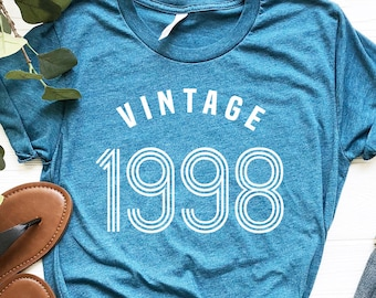 56b2e150f 21st Birthday Shirt, 21st Birthday Gift, 21 AF, Birthday Gift, Vintage 1998  Shirt, Funny 21st Birthday, Twenty First Birthday, 21st B Day