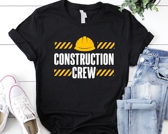 Construction Crew Shirt, Construction Birthday Shirt, Contractor Shirt, Construction Party, Construction Gift, Structural Engineer