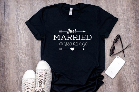 Just Married 60 Years Ago Shirt