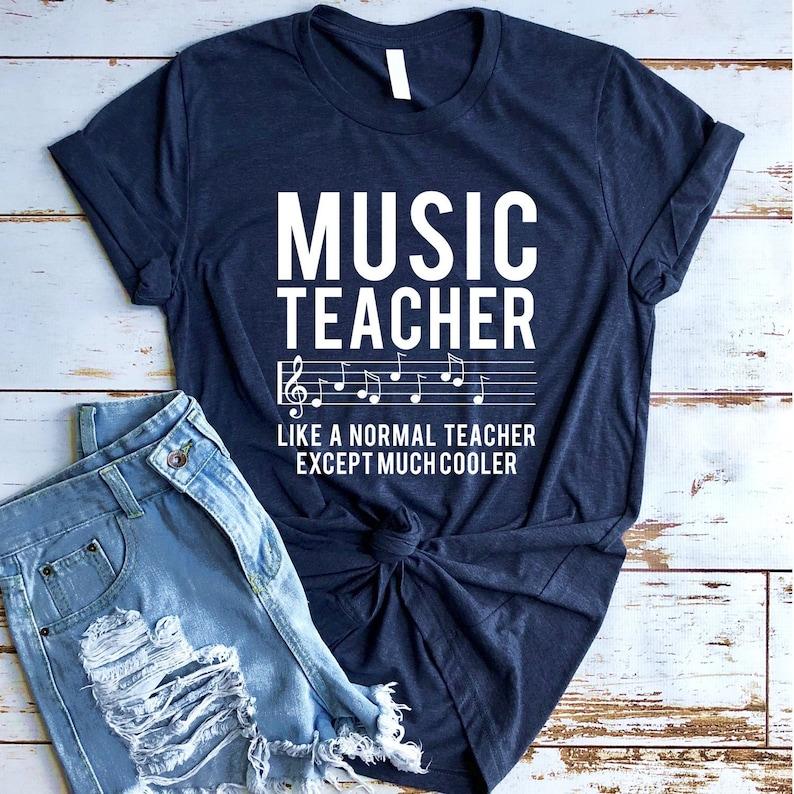 3d0bad72 Music Teacher Like a Normal Teacher Except Much Cooler T shirt | Etsy