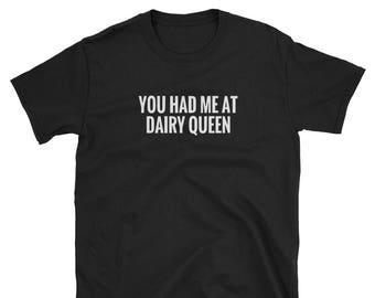 STDONE Mens Custom Humor Tops Dairy Queen Ice Cream Tshirts