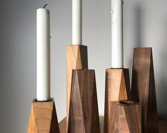 Hardwood Candle Holder