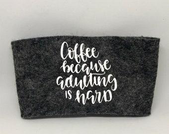 Reusable Felt Coffee Cozie