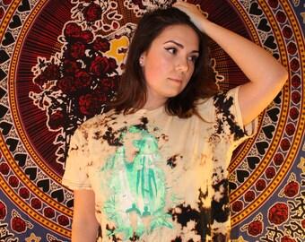 Alien Abduction Bleach Dye Shirt