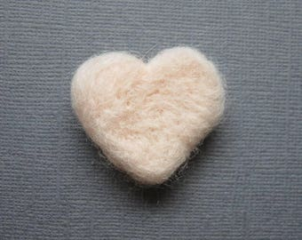 Solid Ballet Pink Handmade Wool Needle Felted Hearts .5 Ounce Table Confetti