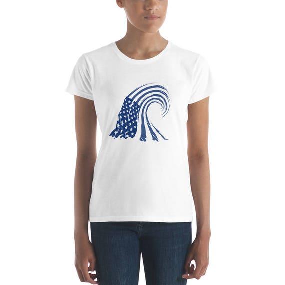 Blue Wave Women's short sleeve t-shirt | Etsy
