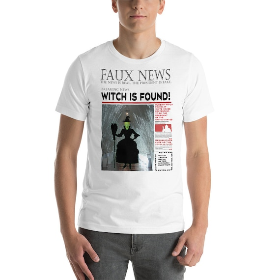 Trump Russia Witch Found Newspaper Short-Sleeve Unisex T-Shirt | Etsy