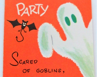 Vintage Gibson Halloween Ghost Party Invitation 1950's/60's
