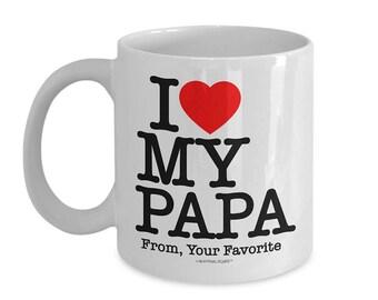 I Love My Papa Coffee Mug | Gift for Papa from Grandchild|Coffee Mug for Papa|Best Papa|Papa Mug