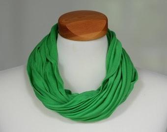 Silk loop scarf Bufanda, brilliant green