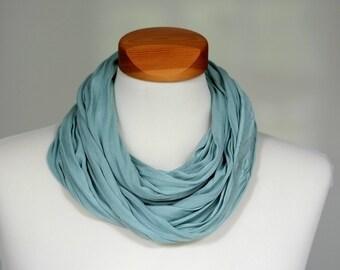 Silk Loop Scarf Bufanda, Aquamarine