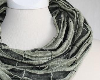 Linen loop, grey-green