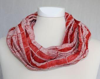 Linen loop, light red