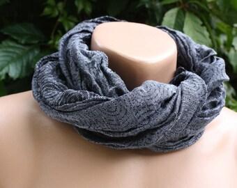 Silk linen scarf in Antrazhit light & Dark