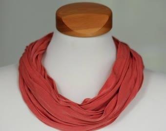 Silk Loop Scarf Bufanda, dark orange
