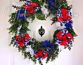 Fourth of July wreath Independence Day wreath summer wreath God bless the USA wreath Memorial Day wreath Veterans Day wreath holiday wreath