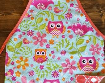 Owl Child's Reversible Apron