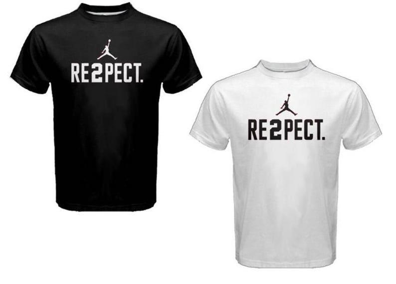 61b6e1cd732322 New Derek Jeter RE2PECT Custom t-Shirt Respect Michael