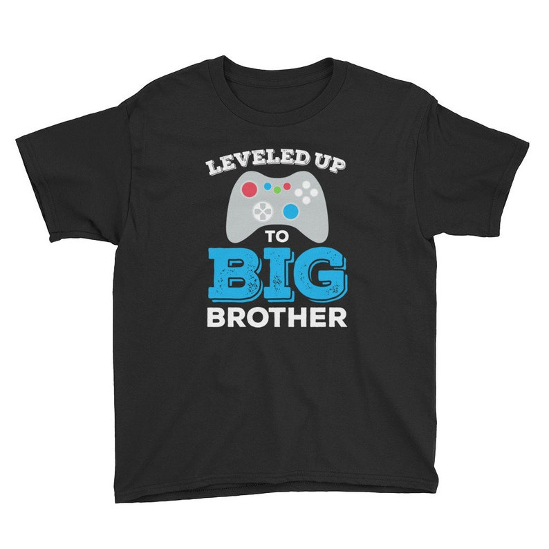 fbb4a0c2 Big Brother Shirt Leveled Up To Big Brother T-Shirt Big | Etsy